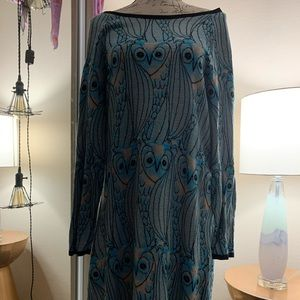 Anthropologie HWR  XL  Sweater Dress Nested Owl